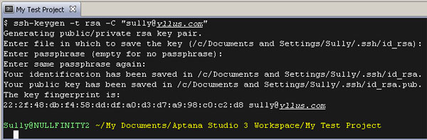 Getting Aptana Studio 3 working with GitHub on your Windows